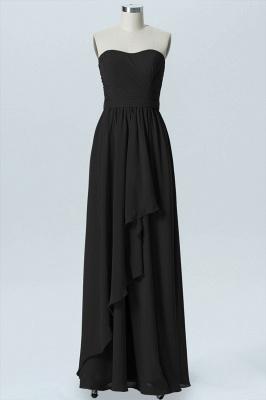 A Line Chiffon Hi-Lo Strapless Sweetheart Sleeveless Bridesmaid Dresses_5