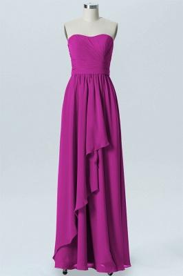 A Line Chiffon Hi-Lo Strapless Sweetheart Sleeveless Bridesmaid Dresses_2