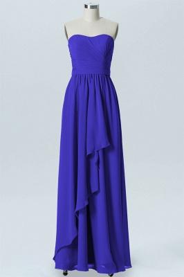 A Line Chiffon Hi-Lo Strapless Sweetheart Sleeveless Bridesmaid Dresses_1