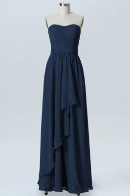 A Line Chiffon Hi-Lo Strapless Sweetheart Sleeveless Bridesmaid Dresses_4