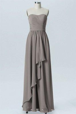 A Line Chiffon Hi-Lo Strapless Sweetheart Sleeveless Bridesmaid Dresses_3