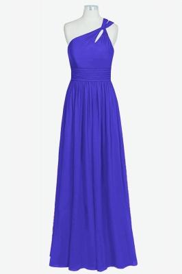 A Line Chiffon One Shoulder Floor Length Bridesmaid Dresses_4