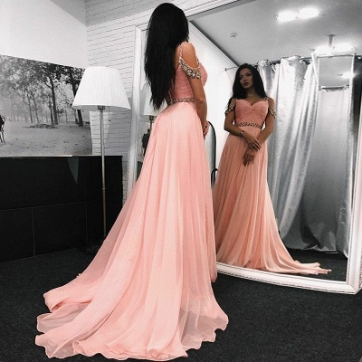 Chic Sweetheart Long Evening Dresses | Sleeveless A-Line Prom Dresses_3