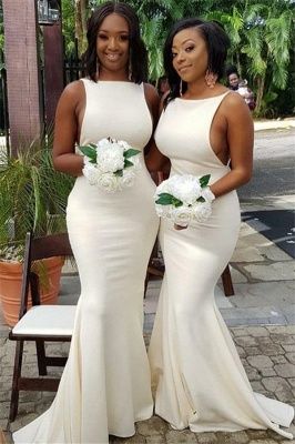 Elegant Sleeveless Sweep Train Mermaid Bridesmaid Dresses | Gorgeous Wedding Guest Dresses_1