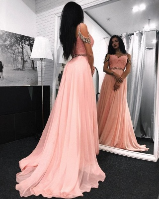 Chic Sweetheart Long Evening Dresses | Sleeveless A-Line Prom Dresses_4