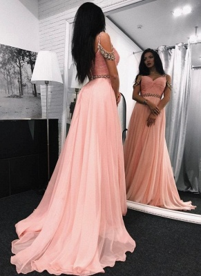 Chic Sweetheart Long Evening Dresses | Sleeveless A-Line Prom Dresses_1