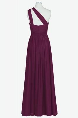 A Line Chiffon One Shoulder Floor Length Bridesmaid Dresses_2