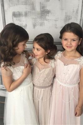 Appliques A-Line Glamorous Beadings Open-Back  Flower-Girl Dresses_2