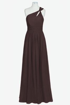 A Line Chiffon One Shoulder Floor Length Bridesmaid Dresses_3