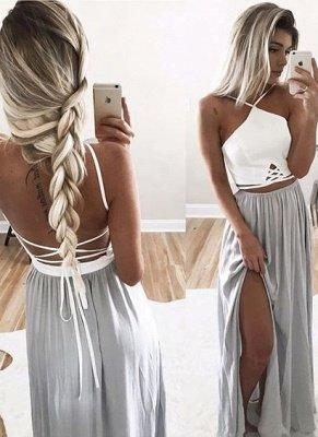 Long Halter-Neck Summer Spaghettis Straps Side-Slit Open-Back Prom Dresses_2