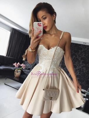 Cocktail A-line Champagne Seller Hot Short Party Dresses Online_1