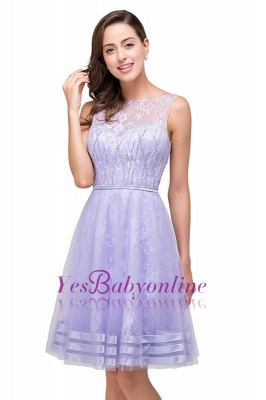 2019 Lavender Short Lace A-Line Sleeveless Mini Homecoming Dress_1