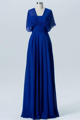 A Line Chiffon Multi Styles Floor Length Bridesmaid Dresses with Ruffles_4