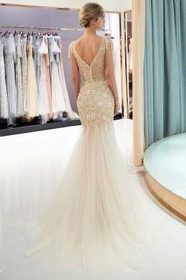 Mermaid Crew Neck Beaded Prom Dress With Tassels | Evening Dress 2019_4