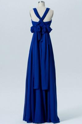 A Line Chiffon Multi Styles Floor Length Bridesmaid Dresses with Ruffles_7