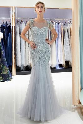 Mermaid Crew Neck Beaded Prom Dress With Tassels | Evening Dress 2019_5
