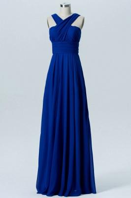 A Line Chiffon Multi Styles Floor Length Bridesmaid Dresses with Ruffles_2