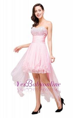 New Arrival A-Line Mini Crystal Sweetheart Ruffles  Homecoming Dress_1