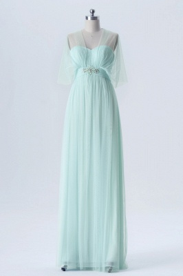 A Line Chiffon Multi Styles Floor Length Bridesmaid Dresses with Beading_7