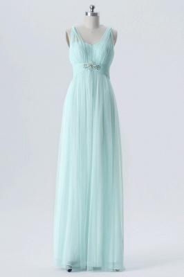 A Line Chiffon Multi Styles Floor Length Bridesmaid Dresses with Beading_2
