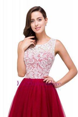 Elegant Red  Evening Gowns Sleeveless Floor-Length A-Line Prom Dress_3