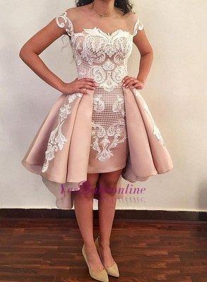 Latest Hi-Lo Prom Dresses | Pink Short Puffy Homecoming Dresses_1