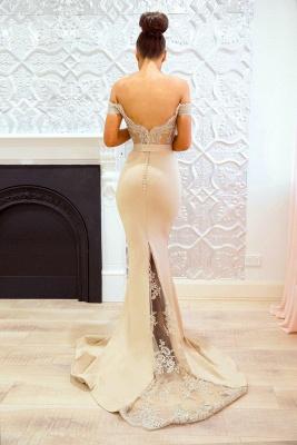 Elegant Off-the-Shoulder Prom Dresses   Sleeveless Mermaid Bridesmaid Dresses_4