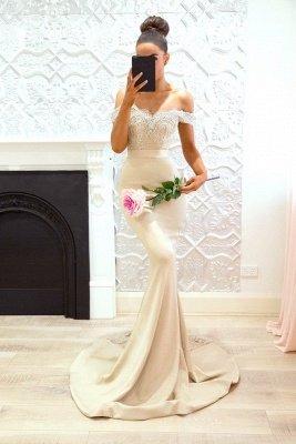 Elegant Off-the-Shoulder Prom Dresses | Sleeveless Mermaid Bridesmaid Dresses_3