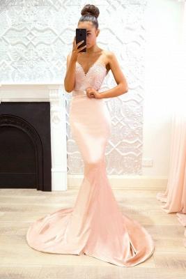 Chic V-Neck Bridesmaid Dresses | Sleeveless Mermaid Wedding Party Dresses_3
