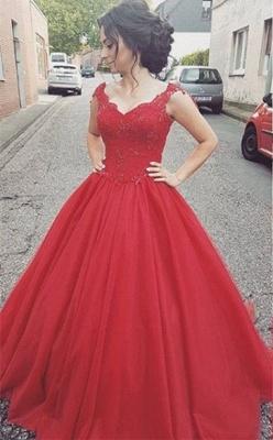 Lace Modern Lace-up  Sleeveless Straps Prom Dress_3