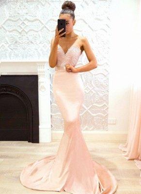 Chic V-Neck Bridesmaid Dresses | Sleeveless Mermaid Wedding Party Dresses_1