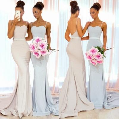 Sexy Spaghetti-Strap Bridesmaid Dresses | Sleeveless Mermaid Wedding Party Dresses_3
