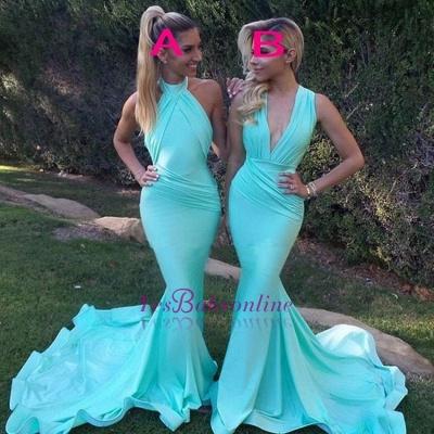 Sleeveless Gorgeous Mermaid Party Evening Dress_1