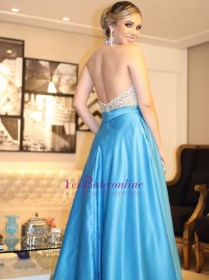 Beading Brilliant Halter A-Line Prom Dresses_1
