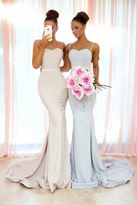 Sexy Spaghetti-Strap Bridesmaid Dresses   Sleeveless Mermaid Wedding Party Dresses_4