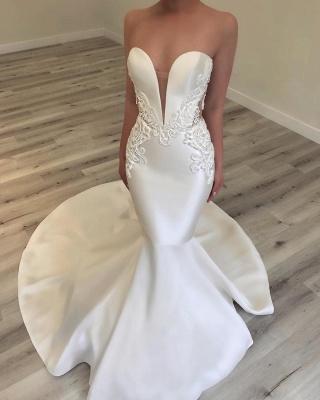 Sexy Sweetheart Mermaid Wedding Dresses | Sleeveless Beading Bridal Gowns_3