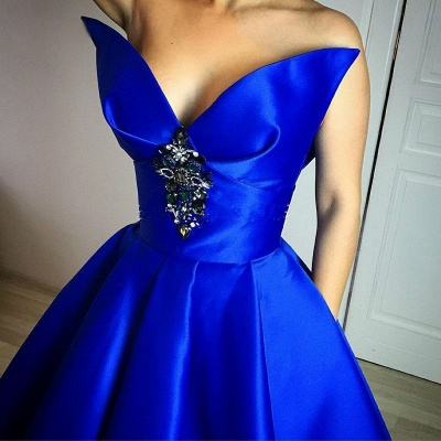 Floor-Length Royal-Blue Ball-Gown Elegant Crystal Prom Dress_3