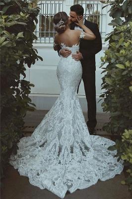 Sexy Mermaid Lace Wedding Dress | Court Train Sweetheart Bridal Dresses_3