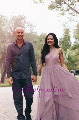 Jewel Tiered Chic Sleeveless A-Line Prom Dresses_1