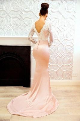 Elegant Long Sleeves Bridesmaid Dresses | Backless Mermaid Wedding Party Dresses_3