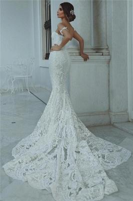 Sexy Mermaid Lace Wedding Dress | Court Train Sweetheart Bridal Dresses_4