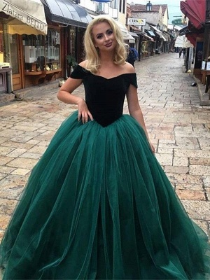 Glamorous Ball  Gown Off-The-Shoulder Prom Dresses_2
