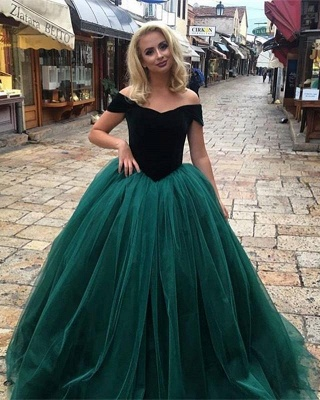 Glamorous Ball  Gown Off-The-Shoulder Prom Dresses_4