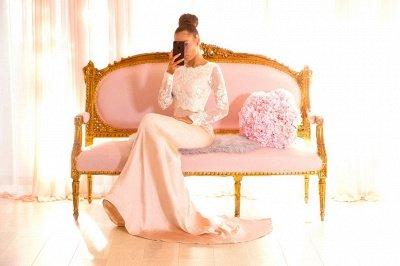 Elegant Long Sleeves Bridesmaid Dresses | Backless Mermaid Wedding Party Dresses_4