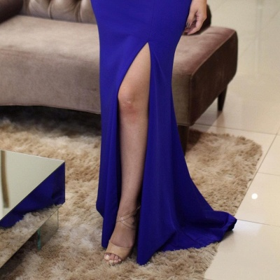 Side-Slit Scoop Sleeveless Vintage Beading Mermaid Prom Dresses_5