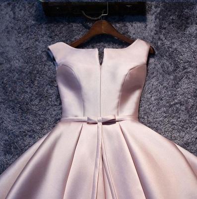 2019 Glossy Homecoming Dresses A-Line Sleeveless Sash Cocktail Dress_3
