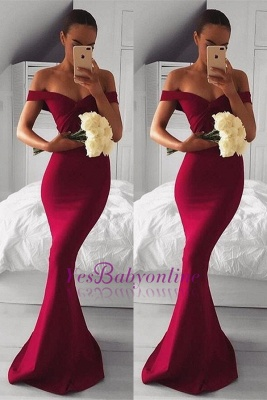 Modern Red Long Off-the-shoulder Mermaid Prom Dress_1