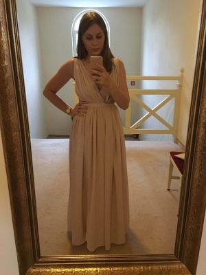 Elegant Sequins  Sleeveless V-Neck Long Maternity Prom Dress_2