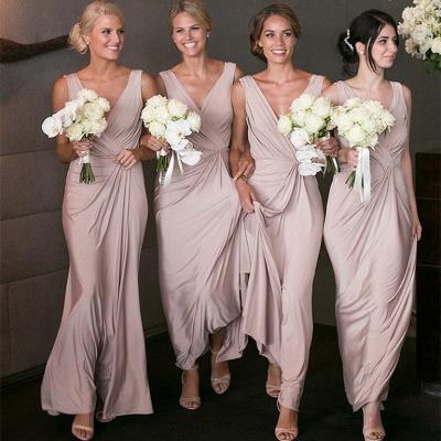 Elegant V-neck Sexy Bridesmaid Dresses Cheap Long Party Dress for Maid of Honor BA7824_3