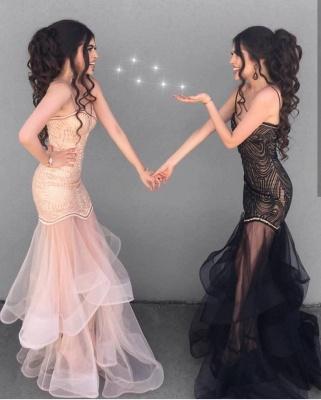 Sexy Sheath V-neck Spaghetti Straps Prom Dress |  See Through Skirt Evening Dress_3